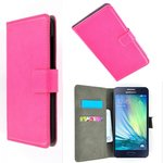 Samsung,galaxy,a3,book,style,wallet,case,roze