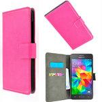 Samsung,galaxy,grand,prime,ve,book,hoesje,wallet,case,roze