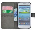 Samsung,galaxy,trend,plus,book,style,wallet,case,zwart