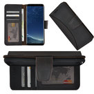 Samsung-Galaxy-S8-hoesje-Echt-Leer-Moon-Bookcase-hoes-Antiek-Donker-Bruin-Pearlycase