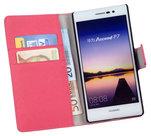 Huawei-Ascend-P7-Wallet-Book-Case-cover-Y-Roze