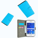 Samsung,galaxy,young,2,book,style,wallet,case,turquoise