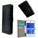 Slim-Wallet-book-case-flip-hoesje-Samsung-Galaxy-Core-2-SM-G355H-Wallet-Book-Case-cover-Y2-Zwart