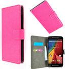 Motorola-Moto-G-2nd-gen.(2014)-smartphone-hoesje-Wallet-Book-Style-Case-Roze