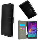 Samsung,galaxy,note,4,book,style,wallet,case,zwart