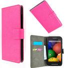 Motorola-Moto-E-Hoesje-Wallet-Book-Case-Cover--Roze