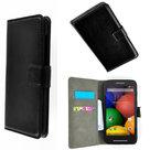 Motorola-Moto-E-Hoesje-Wallet-Book-Case-Cover--Zwart