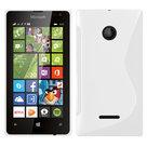 Scase Wit Microsoft Lumia 435 Slicone Hoesje