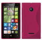 Scase Roze Microsoft Lumia 435 Slicone Hoesje