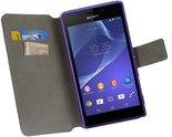 Sony-xperia-m4-aqua-book-style-wallet-case-hoesje-zwart