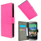 Htc,one,m8s,book,style,wallet,case,roze