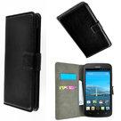 Huawei ascend y330 book style wallet case zwart