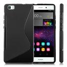 Huawei,p8,lite,hoesje,slicone,case,zwart