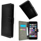 Apple,iphone,6s,plus,book.style,wallet,case,zwart