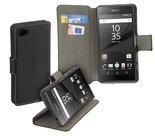 Sony,xperia,z5,compact,book,style,wallet,case,zwart