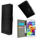 Samsung,galaxy,s5,neo,book,style,wallet.case.zwart