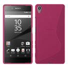 Sony xperia z5 z5 dual tpu hoesje slicone case roze