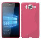 Microsoft,lumia,950,hoesje,silicone,case,roze