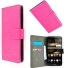 Huawei,shot,x,hoesje,book,style,wallet,case,slim,roze