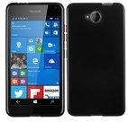 Microsoft,lumia,650,hoesje,silicone,case,zwart