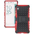 Sony-xperia-x-schokbestendige-case-cover-hoesje-met-standfunctie-tweedelig-rood/zwart