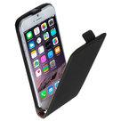 Apple-iPhone-6s-Plus-Lederlook-Flip-case-klap-hoesje-cover-Zwart