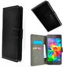 Zwart Bookcase wallet hoesje voor Samsung Galaxy Grand Prime Plus