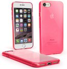 Roze-transparant-tpu-siliconen-hoesje-voor-iPhone-8
