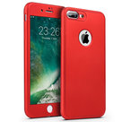 Rood Full Body Case Cover 360 graden Bescherming Hoesje iPhone 7 Plus