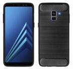 Zwart-Hybrid-Carbon-TPU-Hoesje-voor-Samsung-Galaxy-A8-2018