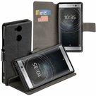 Zwart-Bookstyle-Y-Wallet-Case-Hoesje-voor-Sony-Xperia-XA2