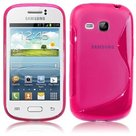 Samsung galaxy young hoesje slicone case s roze