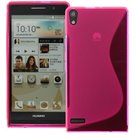Huawei--Ascend-P6-TPU-Silicone-Hoesje-Case-Roos