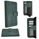 Pearlycase-Echt-Leder-Antiek-Donker-Groen-Bookcase-Hoesje-voor-Samsung-Galaxy-S9-plus