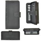 Pearlycase-Echt-Leer-Library-Bookcase-Zwart-voor-Samsung-Galaxy-S9