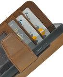 Pearlycase Antiek Bruin Echt lederen 2in1 back en book case ID type hoesje met magnetisch uitneembaar leren behuizing en sluiting voor Apple iPhone 6/6S_9