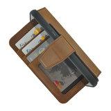 Pearlycase Antiek Bruin Echt lederen 2in1 back en book case ID type hoesje met magnetisch uitneembaar leren behuizing en sluiting voor Apple iPhone 7/8_9