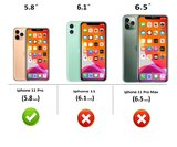 iPhone 11 Pro Wallet Bookcase hoes Pearlycase Echt Leder hoesje Zwart_9