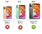 iPhone 11 Pro Max Wallet Bookcase hoes Pearlycase Echt Leder hoesje Croco Zwart_9