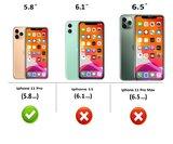 iPhone 11 Pro Wallet Bookcase hoes Pearlycase Echt Leder hoesje Croco Bruin_