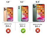 iPhone 11 Wallet Bookcase hoes Pearlycase Echt Leder hoesje Croco Zwart_9