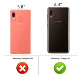 Pearlycase Tempered Glass / Glazen Screenprotector Full Cover Zwart voor Samsung Galaxy A20 Gehard Glas_9