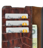 Samsung Galaxy S20 hoesje Cover Wallet Bookcase Pearlycase Echt Leder hoes Croco Bruin_9