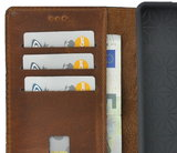 Samsung Galaxy A01 hoes Echt Leer Wallet Bookcase hoesje cover Cognac Bruin Pearlycase _9