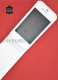 Apple iPhone SE smartphone hoesje echt leder flip case P - Wit