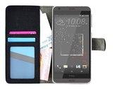 HTC-Desire-630-smartphone-hoesje-wallet-book-style-case-zwart