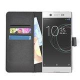 Zwart-Luxe-Bookcase-Wallet-hoesje-voor-Sony-Xperia-XA1-Ultra