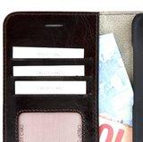 Echt-Leder-Donkerbruin-Wallet-Bookcase-Pearlycase-Hoesje-voor-Samsung-Galaxy-S8-Plus