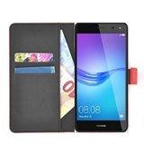 Wallet-bookcase-effen-rood-hoesje-voor-Huawei-Nova-2