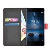 Wallet-bookcase-luxe-effen-rood-Nokia-8-hoesje